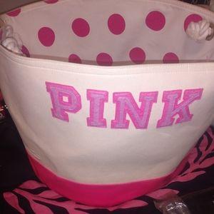 Victoria secret pink round bin